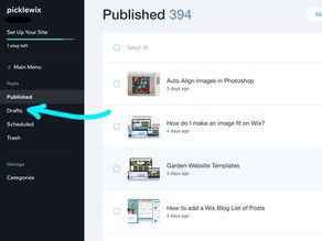 Wix Designer Tips: Where to find Draft Blog Posts