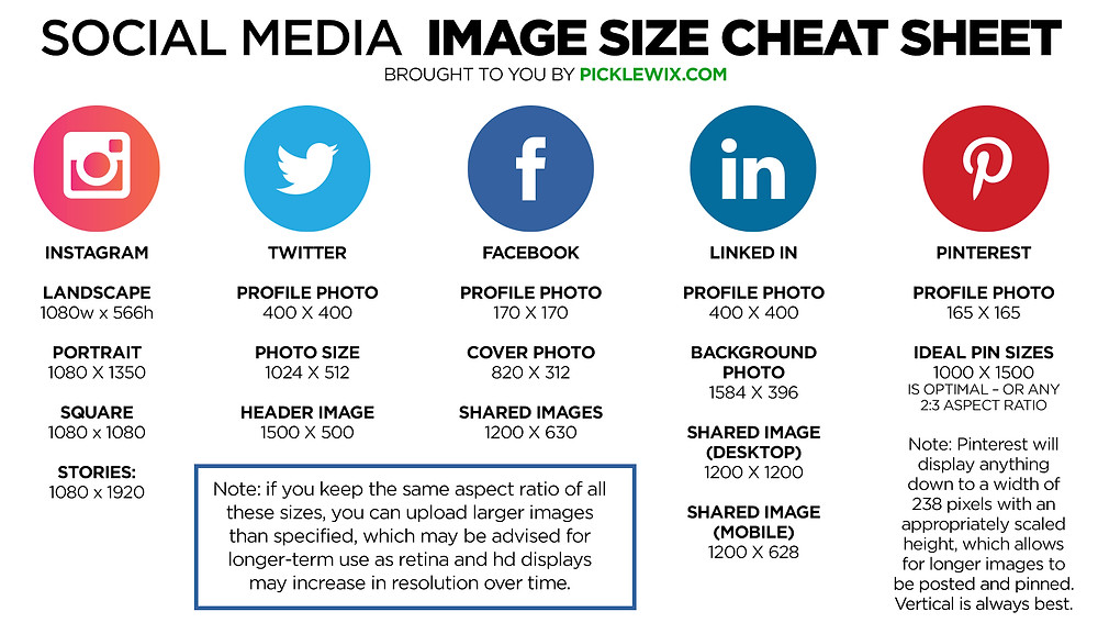 Social Media Image Sizes 2020 Cheat Sheet