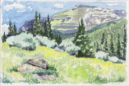 Denver Illustrator – Mountains