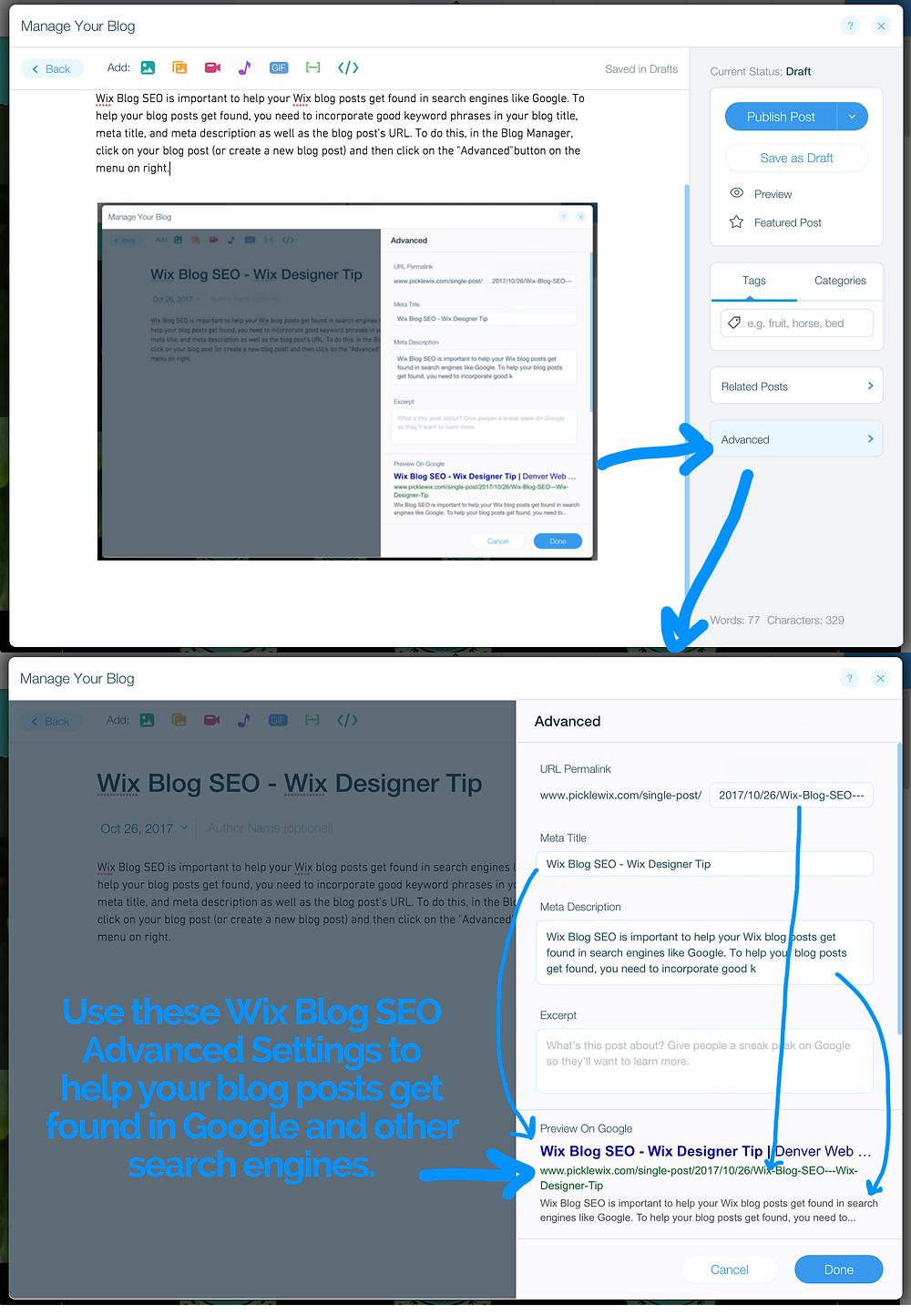 Wix Blog SEO
