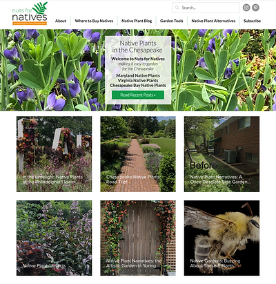 Nuts For Native Plants Website Design