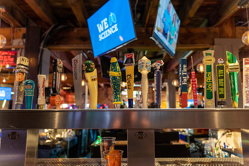 Tailgate Room at Blake Street Tavern for Football Watch Parties in Denver - Plenty of beer options!
