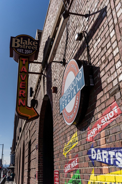 Fun Restaurants in Denver - Blake Street Tavern downtown, with free parking