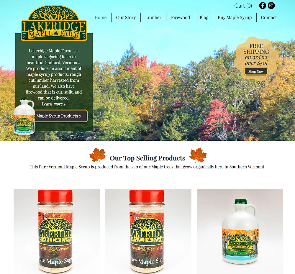 Wix Website Designer for Maple Syrup Farm