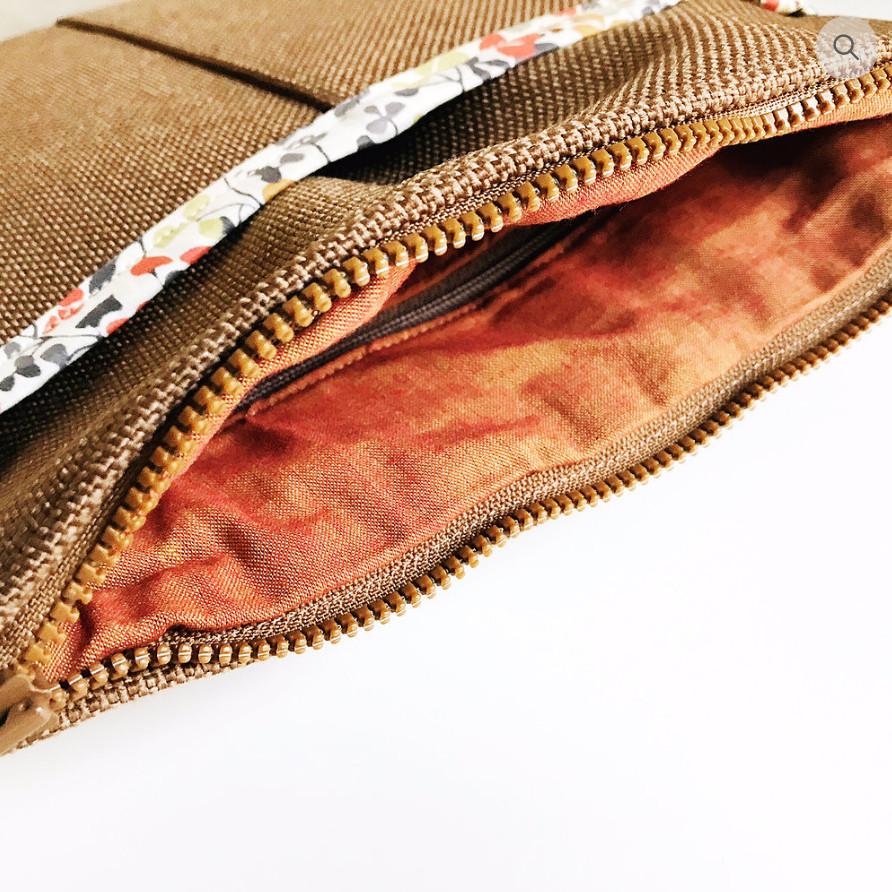 Custom Handbags - Brown, Fabric Lined Interior
