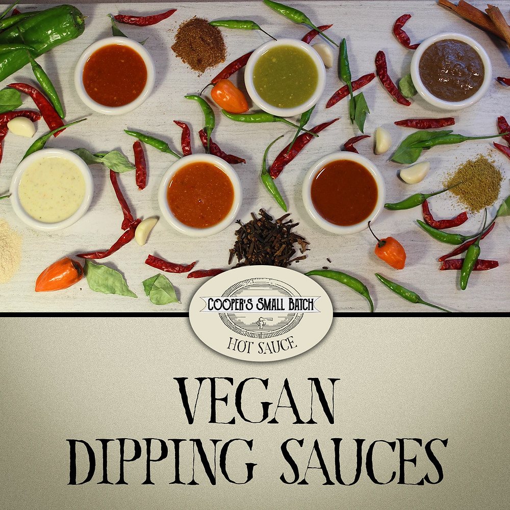 Vegan Dipping Sauces from Cooper's Small Batch Hot Sauces