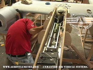 XF-11 hydraulic retractable nose wheel assembly after installation
