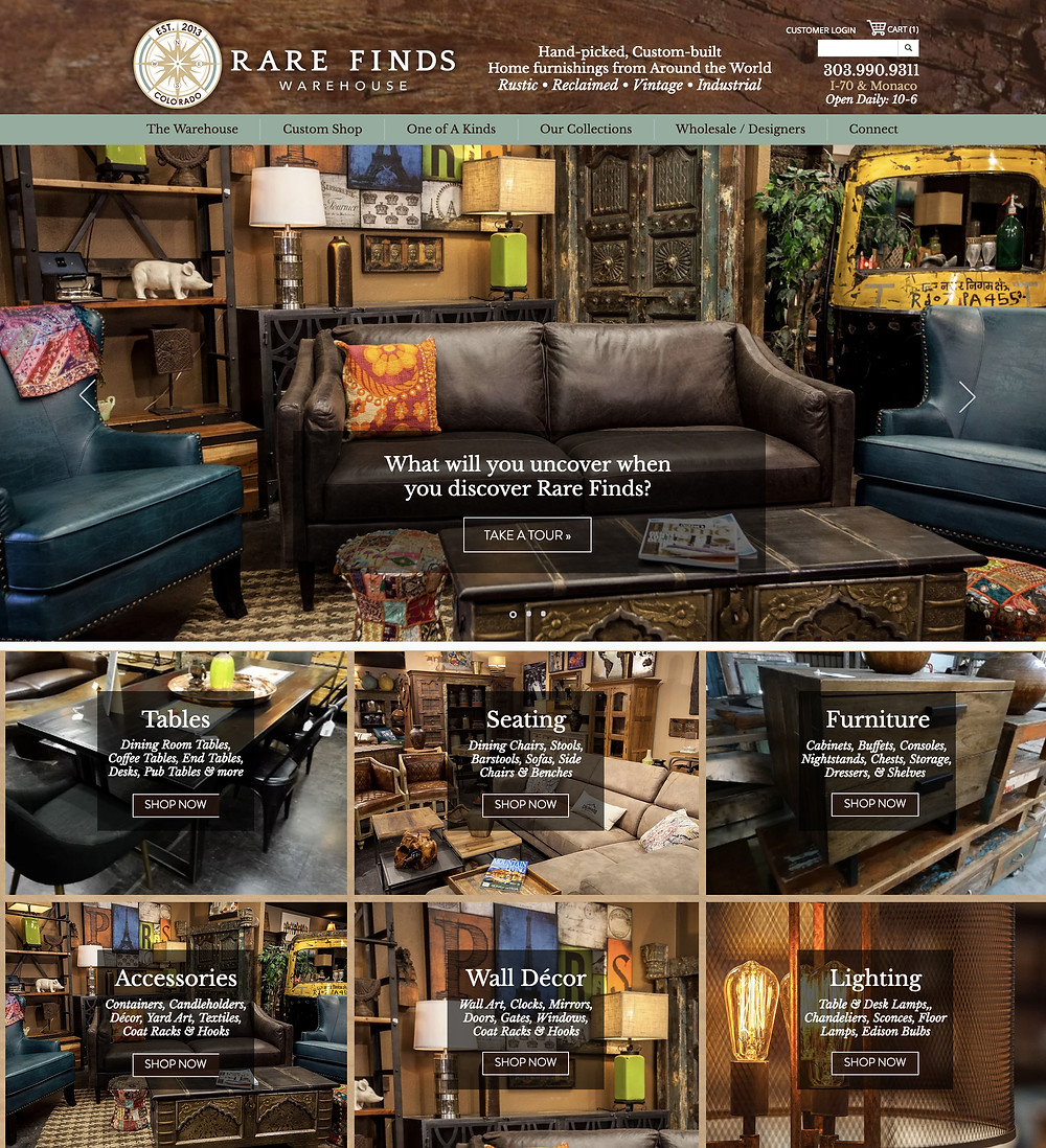 Wix Templates - for Furniture Store in Denver