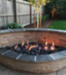 custom sandstone fire pit
