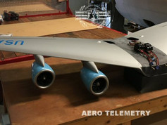 Aero Telemetry swept wing for the 1/18th scale Air Force One flyable model.
