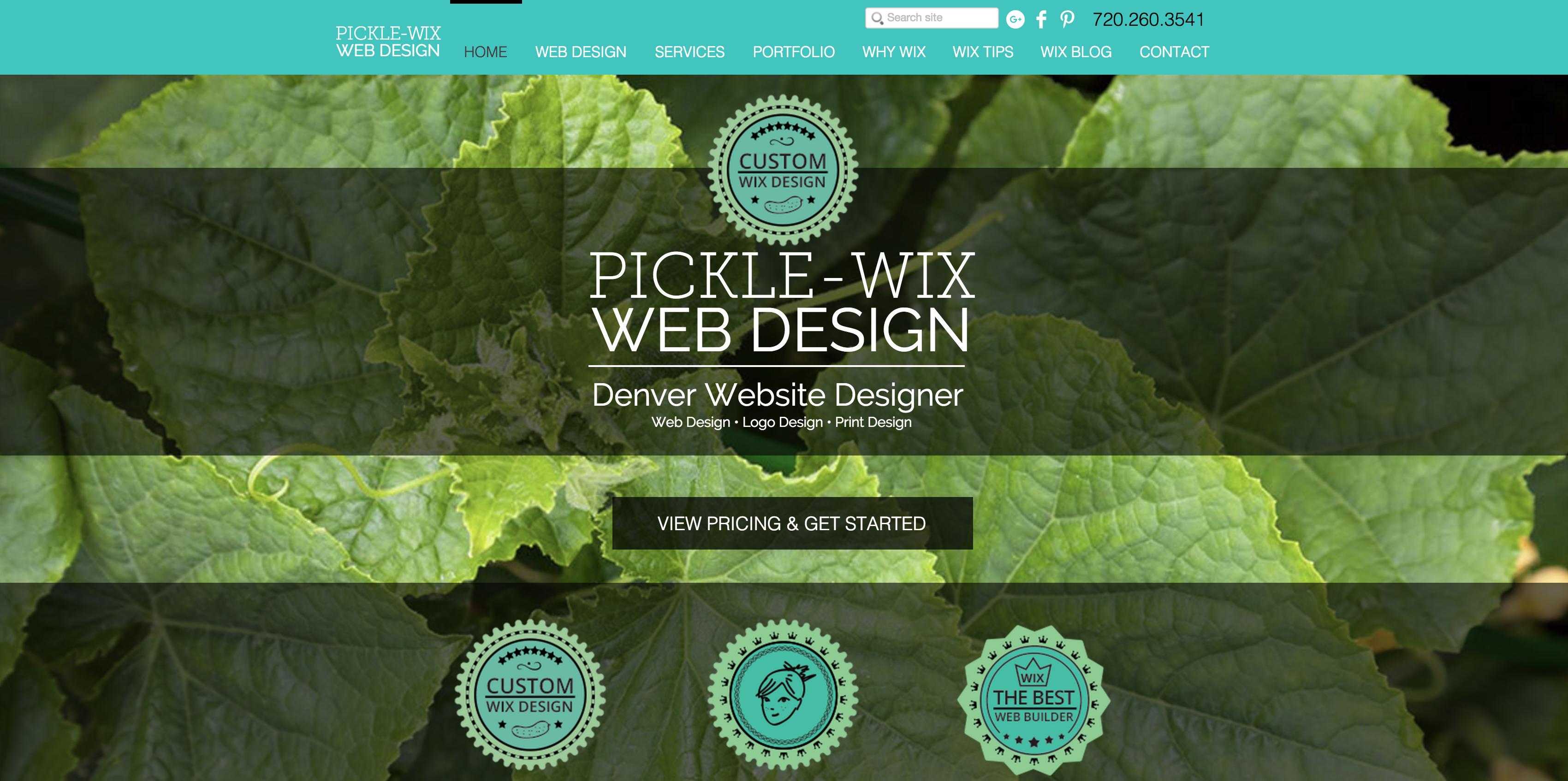 Denver Web Design | Wix Website Design | Pickle-Wix Web Design
