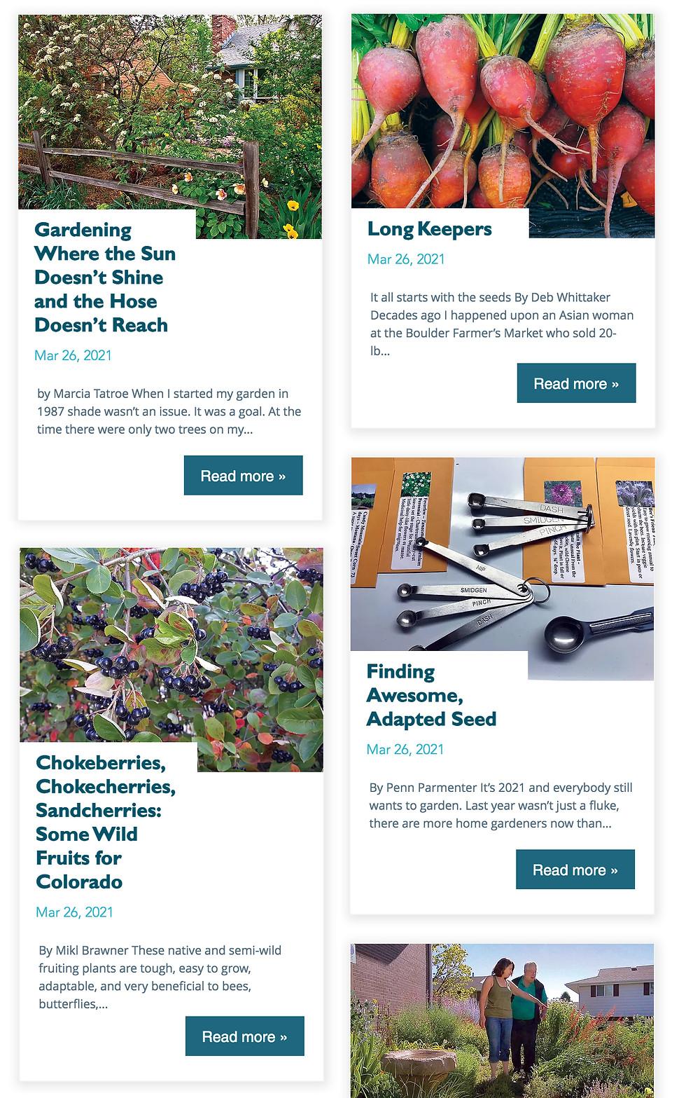 New Colorado Gardener Blog & Website designed by Picklewix.com