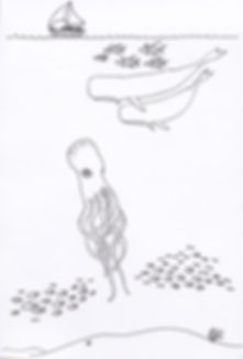 Stock Illustration – Whales, Ocean, Octopus