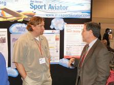 Joe Bok speaks with AMA Publications Director Rob Kurek at the 2005 AMA Expo in Pasadena, CA