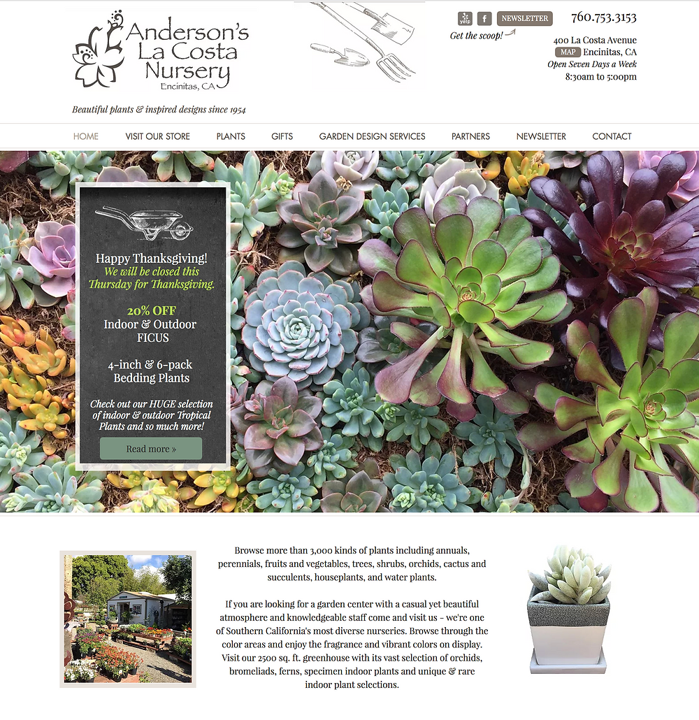 Wix Designer for Garden Center