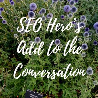 SEO Hero's Add to the Conversation