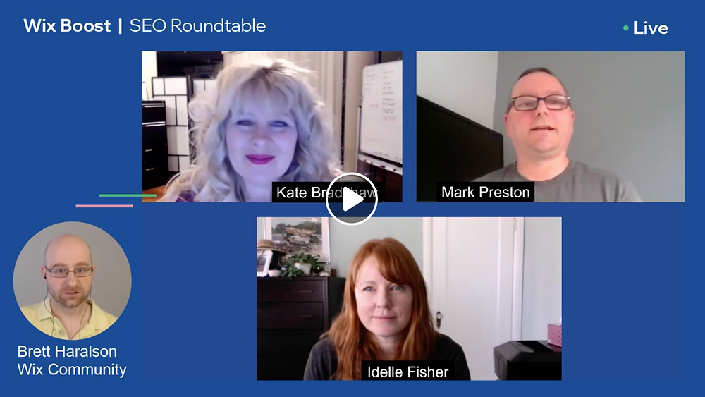 SEO Webinar on Facebook with Idelle Fisher of Picklewix.com and Kate and Mark