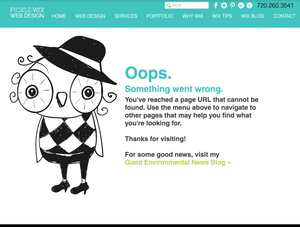 Customize Error 404 Page in Wix