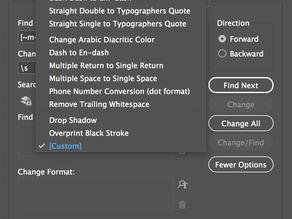 Graphic Designer Tip: InDesign Find/Change Tip for Multiple Spaces or Returns