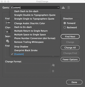 Graphic Designer Tip: InDesign Find/Replace Tip