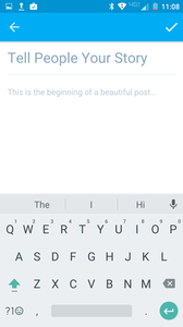 Wix Mobile App - Example of posting in blog from a Android Phone