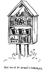 Garden Illustration - Native Bee House