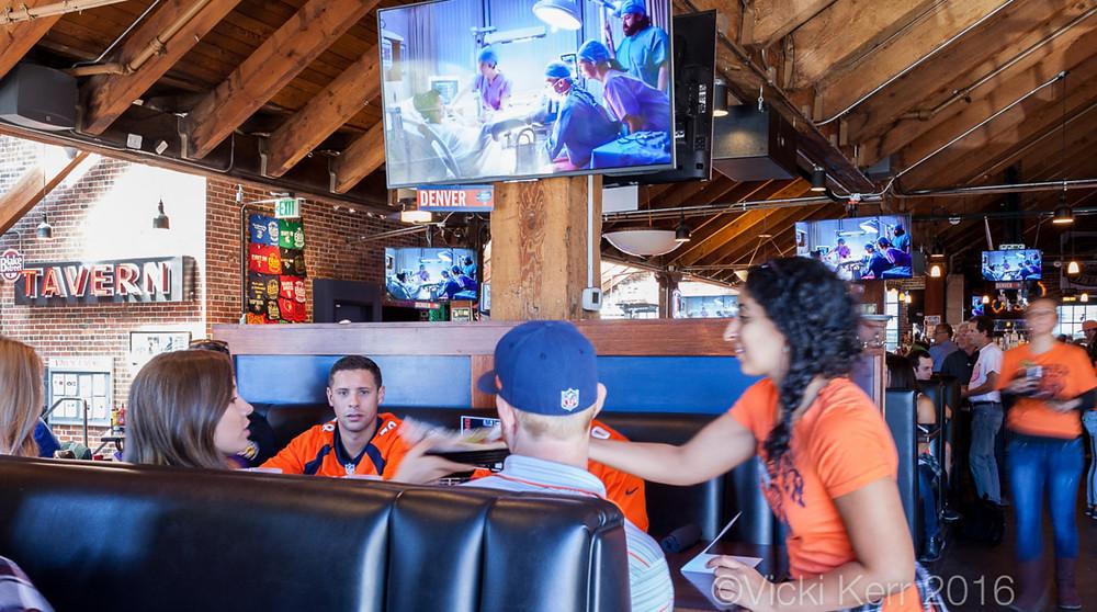 Denver Broncos Bar with great food!