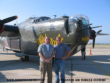 Joe Bok and Rob Collings, President of The Collings Foundation and B24 Pilot. Prior to takeoff at Long Beach, CA