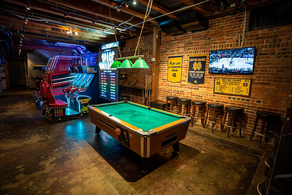 Fun Restaurants in Denver - Blake Street Tavern has lots of games downstairs in our Underground Social