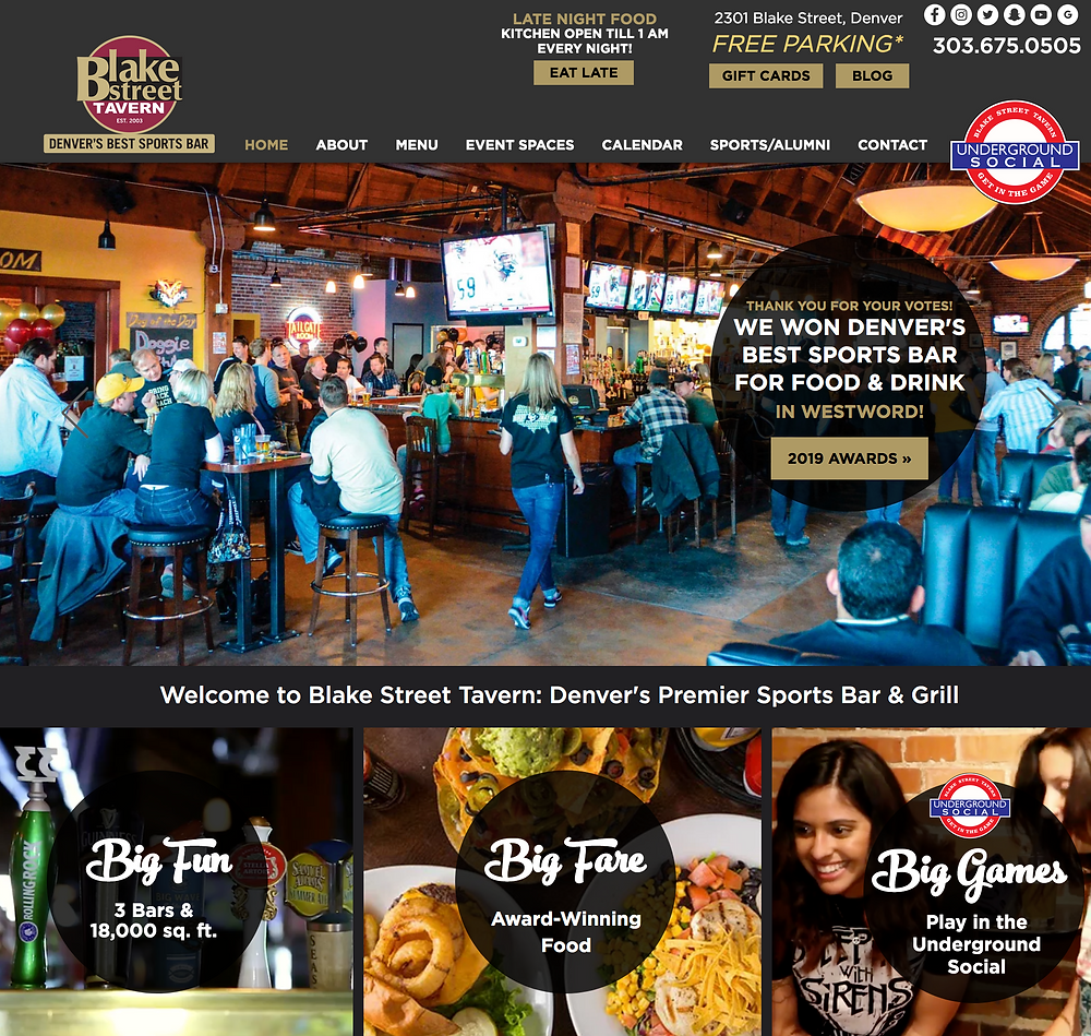 Wix Designer for Restaurant in Denver: Blake Street Tavern
