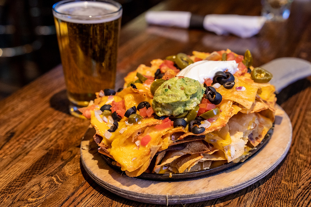 Vegetarian Food Delivery - Denver's best Vegetarian Nachos from Blake Street Tavern