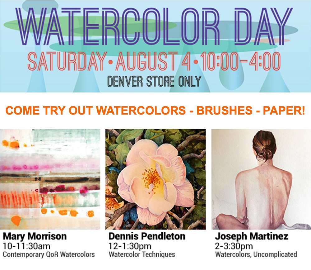 Watercolor Day at Meiningers in Denver - Watercolor Classes & Free Samples!