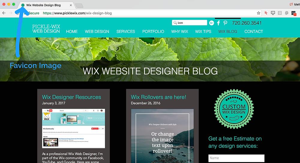 Wix Designer Tip - adding a favicon