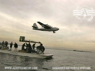 Hughes Spruce Goose on set of the movie The Aviator