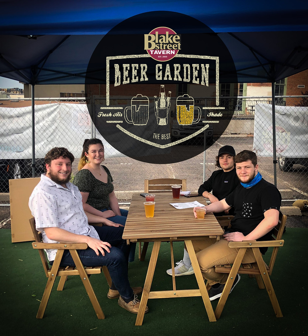 Denver Beer Garden at Blake Street Tavern in downtown near Coors Field
