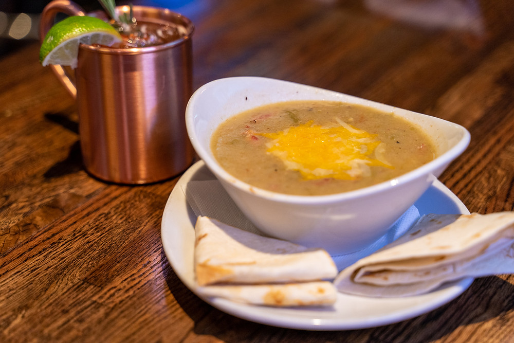 Vegetarian Food Delivery - Denver's best Vegetarian Green Chile from Blake Street Tavern