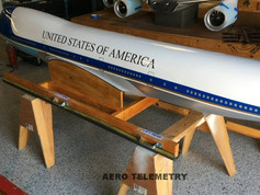 This is the custom shipping fixture we built to keep the 747 safe on its way home.
