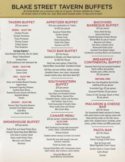 Denver Event Rental Buffet Menu