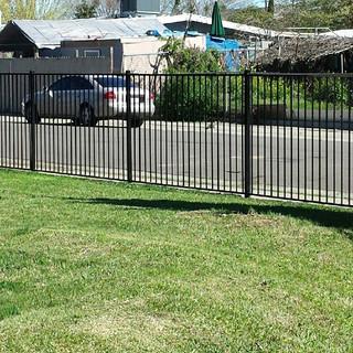 Black Ornamental Iron Fence