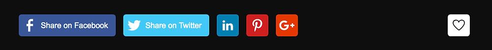 Wix Blog Social Media sharing buttons