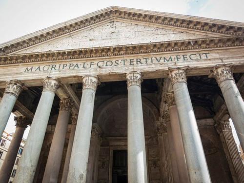 Rebuilt and designed by emperor Hadrian