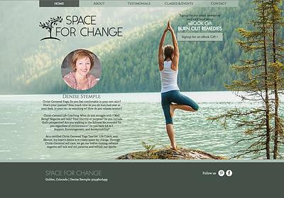 Denver Website Design for Yoga Instructor
