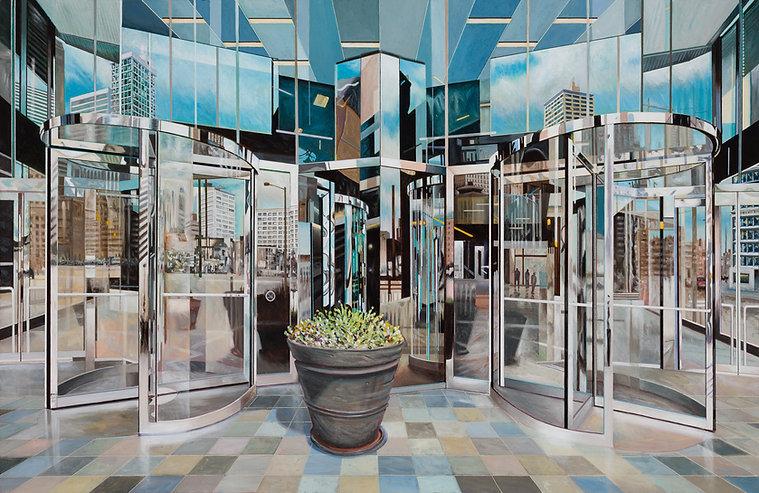 Flowers, Denver  AC  2021  34x55 Painting by Robert Gratiot
