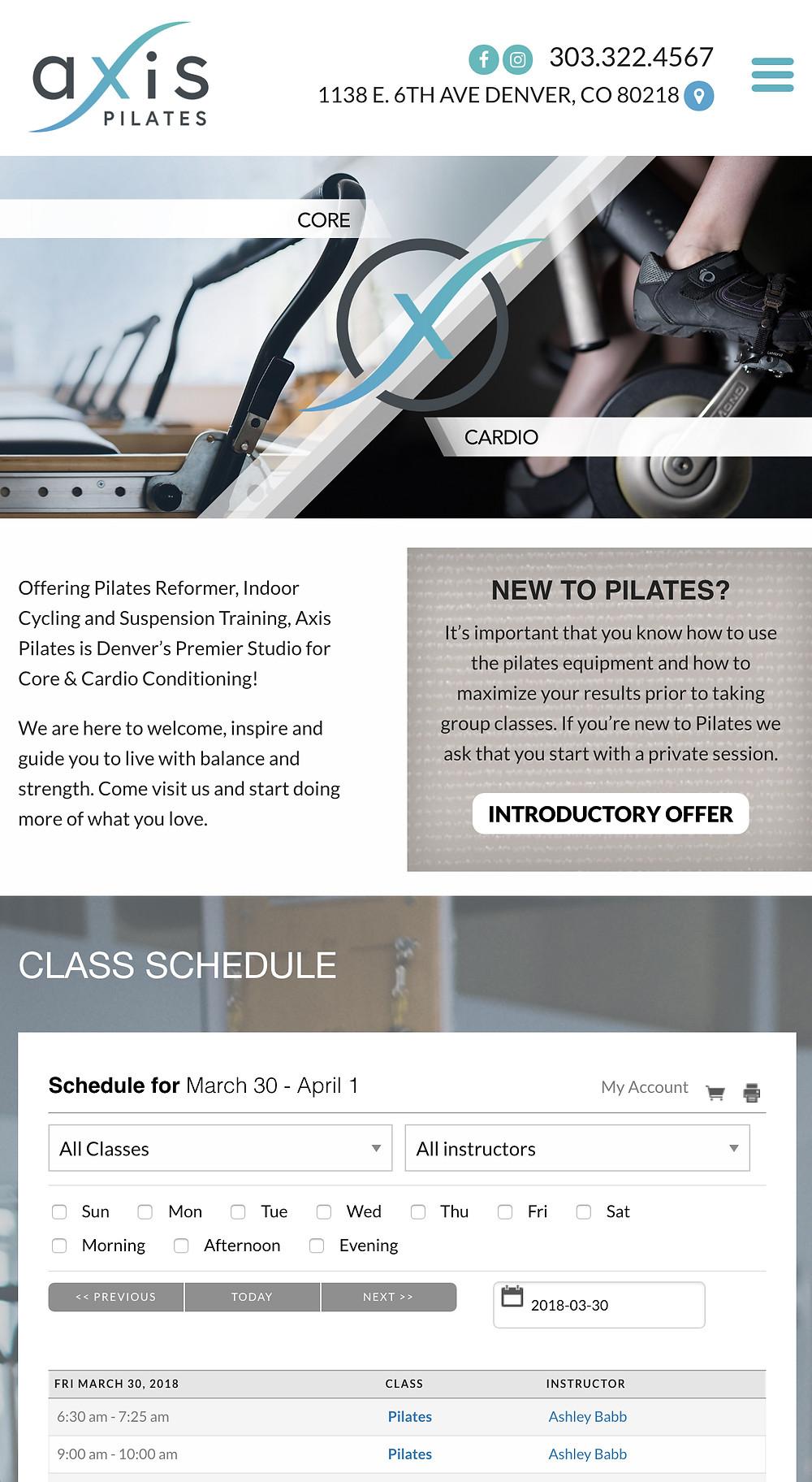 Pilates Studio Website Designer
