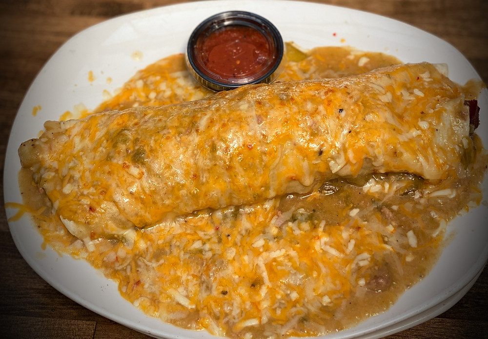 Best Green Chile Smothered Burrito in Denver at Blake Street Tavern
