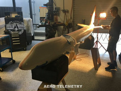 Final finish details for the Aero Telemetry Air Force One UAV.