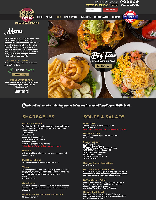 Restaurant Website Designer