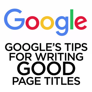 SEO Hero Tip - Google's advice for good Page Titles