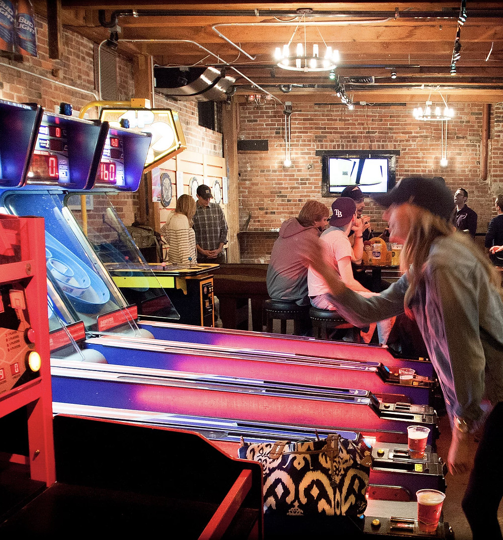 Downtown Denver Bar with Games and Arcades: Underground Social - Darts, Skeeball