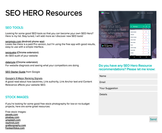 Awesome SEO Hero Resources